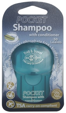 שמפו+קונדישינר דפים Trek & Travel Pocket Conditioning Shampoo